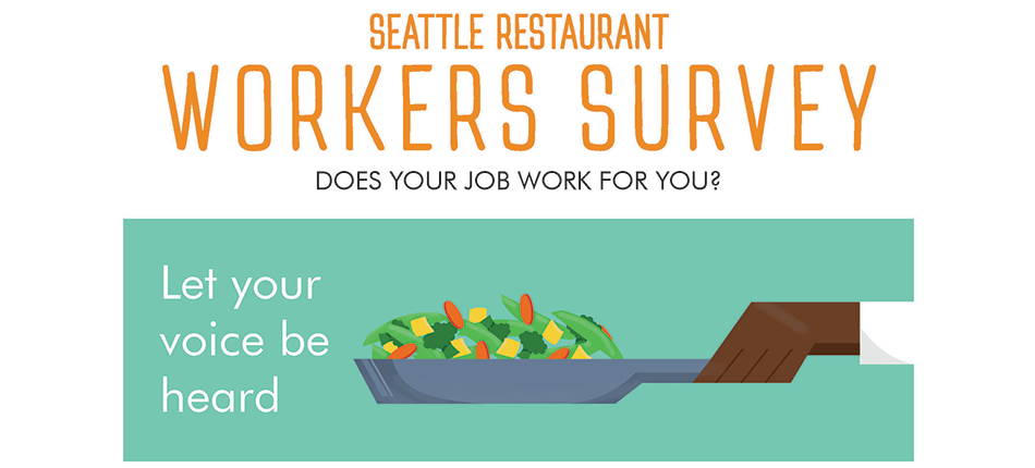 Poster for Washington Restaurant Association survey.