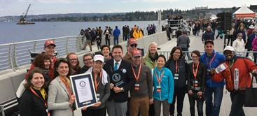 EnviroIssues group photo on 520 bridge